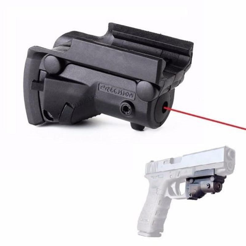 Tactical MiNi Red Dot Laser Sight Rail For Pistol Glock 17 19 20 21 22 31 34 35