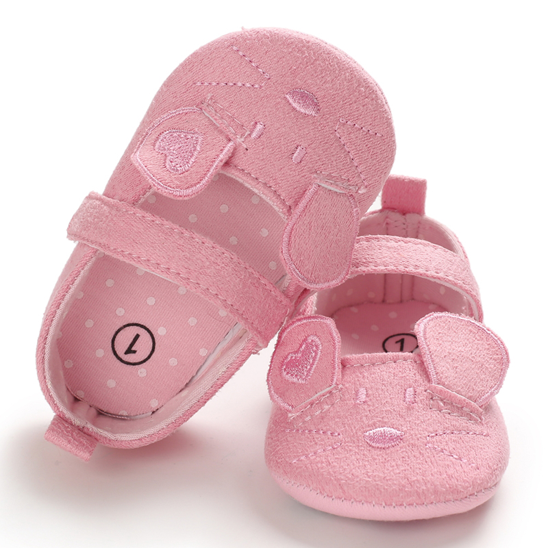 Infant Girl Shoes Breathable Cartoon Mouse Ear Design Anti-Slip Casual Sneakers Toddler Soft Soled First Walkers Shoes