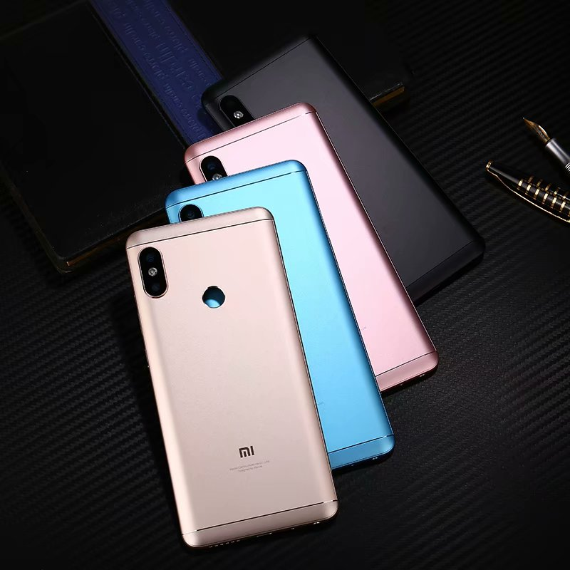100% Original Rear Housing Cover For Xiaomi Redmi Note 5 / Note5 Pro Metal Back Door Repair Battery Case + Buttons Camera Glass