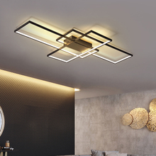 NEO Gleam 직사각형 알루미늄 현대 Led 천장 조명 거실 침실 AC85 265V 화이트/블랙 천장 조명기구