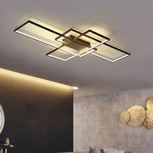 NEO Gleam прямоугольные Алюминиевые Современные светодиодные потолочные лампы для гостиной, спальни, потолочные светильники белого/черного цвета для гостиной и спальни