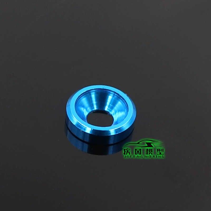 10pcs אלומיניום מכונת כביסה M3 צבע אלומיניום סגסוגת כובע מנקי עבור RC דגם חלקי countersunk ברגי אטם