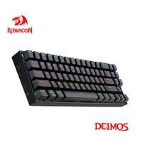 Redragon Deimos K599 KRS RGB Tastiera da gioco meccanica USB 2.4G wireless dual mode Interruttore rosso retroilluminato 70 tasti Computer