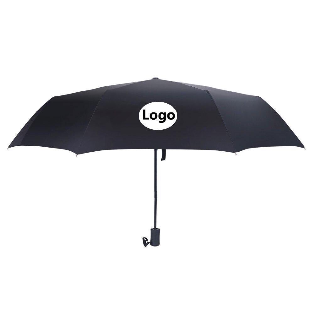 For Volkswagen Logo Car Automatic Umbrella Men Women 3 Fold Sun Protection Rain Umbrellas For VW Jetta Golf 3 4 5 6 7 Sharan CC