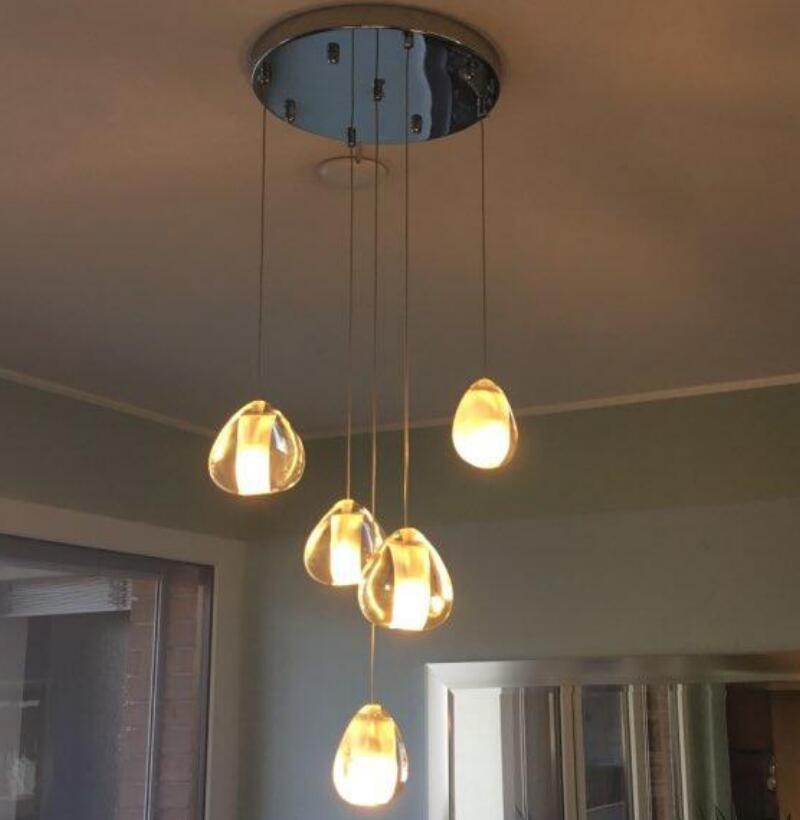 Modern Crystal Chandelier Lighting LED Pendant Hanging Light Crystal Ball Chandeliers Stair Cristal Chandelier Home Lighting|Pendant Lights| |  - title=