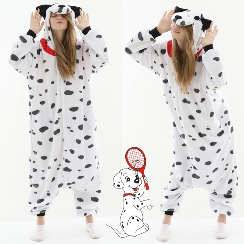Dalmatians Cosplay Costume Kigurumi Adult Unisex Pajamas Jumpsuit Sleepwear Polar Fleece Onesies