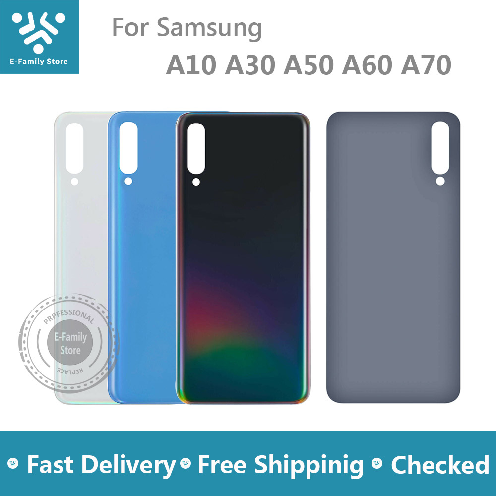 New Battery Cover For Samsung Galaxy A10 A30 A40 A50 A60 A70 Back Glass Rear Door Housing Case Replacement With Sticker