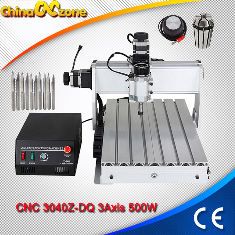 CNC 3040 3Axis Milling Machine 500W CNC 3040 USB Mach3 Router Ball Screw USB Line DIY Drilling Engraving Machine For Wood