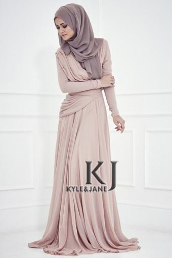 Floor Length Muslim gown long Sleeve Custom vestido de festa Formal Evening Gown 2018 Robe De Soiree mother of the bride dresses
