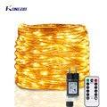 Светодиодная лента 5 м 100 м светодиодный струнные лампы, герлянда, возможностью погружения на глубину до 30 м 50 м уличная светодиодная гирлянд...