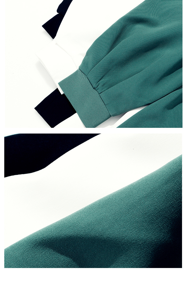 [EAM] 19 New Autumn Winter V-collar Long Batwing Sleeve Fold Split Joint Green Loose BandageJacket Women Coat Fashion JL083 25