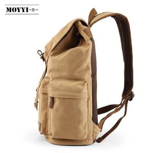 Image 4 - MOYYI الرجال 14 بوصة محمول على ظهره حقيبة من القماش للجنسين حقائب السفر USB شحن حقيبة مدرسية طالب موشيا