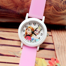 Cute Princess Elsa Children Girls Watches Jelly Silicone Flu
