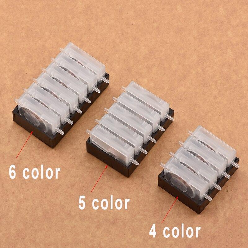 Шприц для чернил СНПЧ, односторонний клапан для заслонки чернил, 4 цвета, 5 цветов, 6 цветов для Brother, Canon, HP, для струйных принтеров Epson|Детали принтера|   | АлиЭкспресс