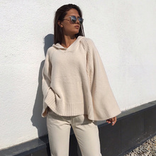 hooded thick casual knitted