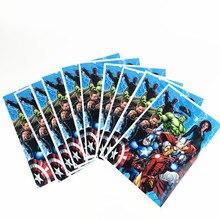 10 pçs avengers tema design crianças festa de aniversário decoração descartável lanche doces saco de presente do chá de fraldas suprimentos