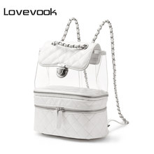 LOVEVOOK mini backpack women clear small school bag female backpack student back pack bags ladies tote bags pvc flap purse 2020(China)