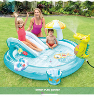 Inflatable Slides Pools with umbrella baby slide toys fun family water spray pool inflatable swimming pool for children toys