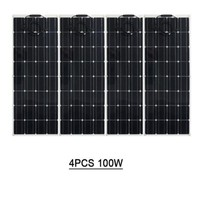 solar panel from China, solar kits, solar power 400w is 4 pcs of module 100W flexible solar panel, Suit for 12V system kit