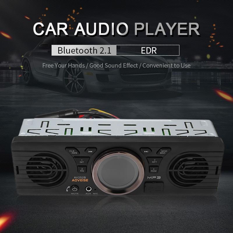 AV252B 12V Bluetooth EDR Auto In-dash MP3 Audio Player Car Stereo FM Radio