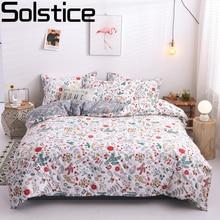 Solstice maison Textile dessin animé ours polaire ensembles de literie enfants literie linge de lit housse de couette drap de lit taie doreiller/ensembles de lit