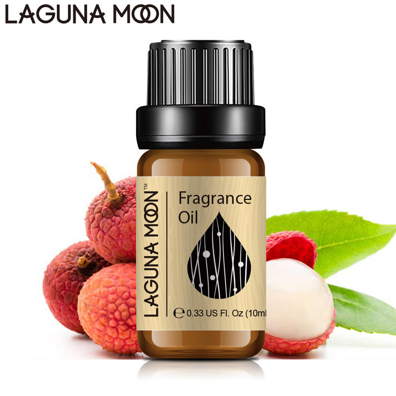 Lagunamoon Litchi Fragrance Oil Blueberry Vanilla Ylang Citronella Grape Juniper Fig Pear 10ML Essential Oils Relax Aromatherapy