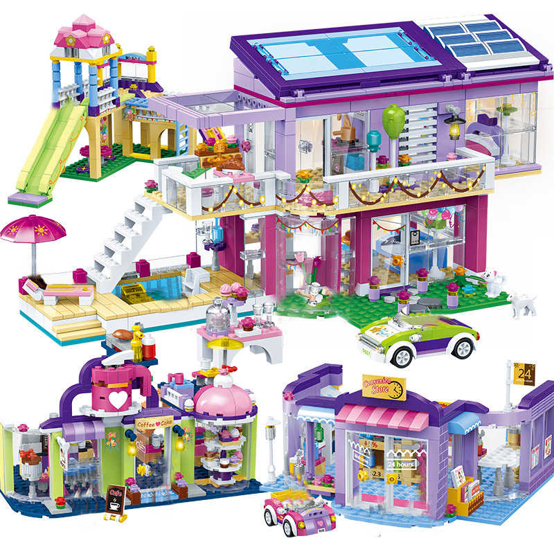 NEW Legoes City Girl Series Modern Dream Princess Girl Blocks Shop Building Set Classic Educational Brick Toys For Kids Gifts