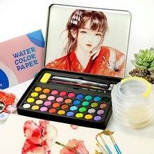Цветной es рисунок 36 цветов s однотонный набор красок с кистью