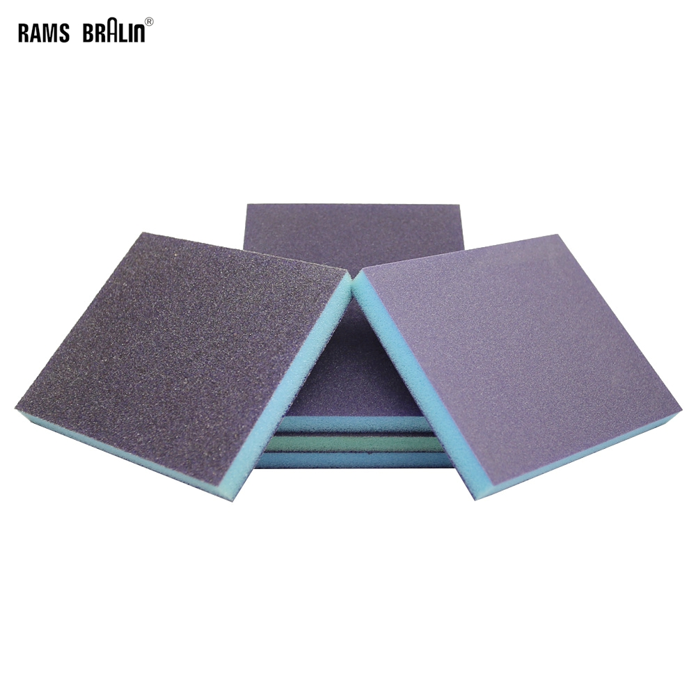 20 Pieces 120*98*13mm Sandpaper Sponge Hi-Flex Polishing Block Wood Furniture Grinding Hand Finishing Tool