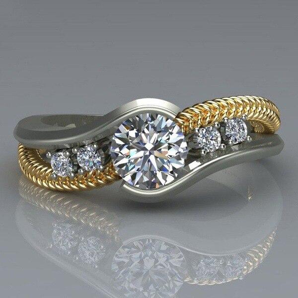 Горячая Распродажа, дизайн, роскошное большое овальное CZ кольцо золотого цвета, обручальное кольцо, хорошее ювелирное изделие для женщин, ювелирных изделий - Цвет основного камня: 25