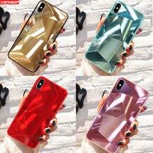 Роскошные Алмазные зеркальные чехол для iPhone 7 8 X XS Max XR чехлы для телефонов iPhone 6 6s 7 8 Plus 7plus 8plus чехол задняя ТПУ покрытие для чехла