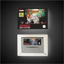 Super Turrican 소매 상자가있는 EUR 버전 액션 게임 카드