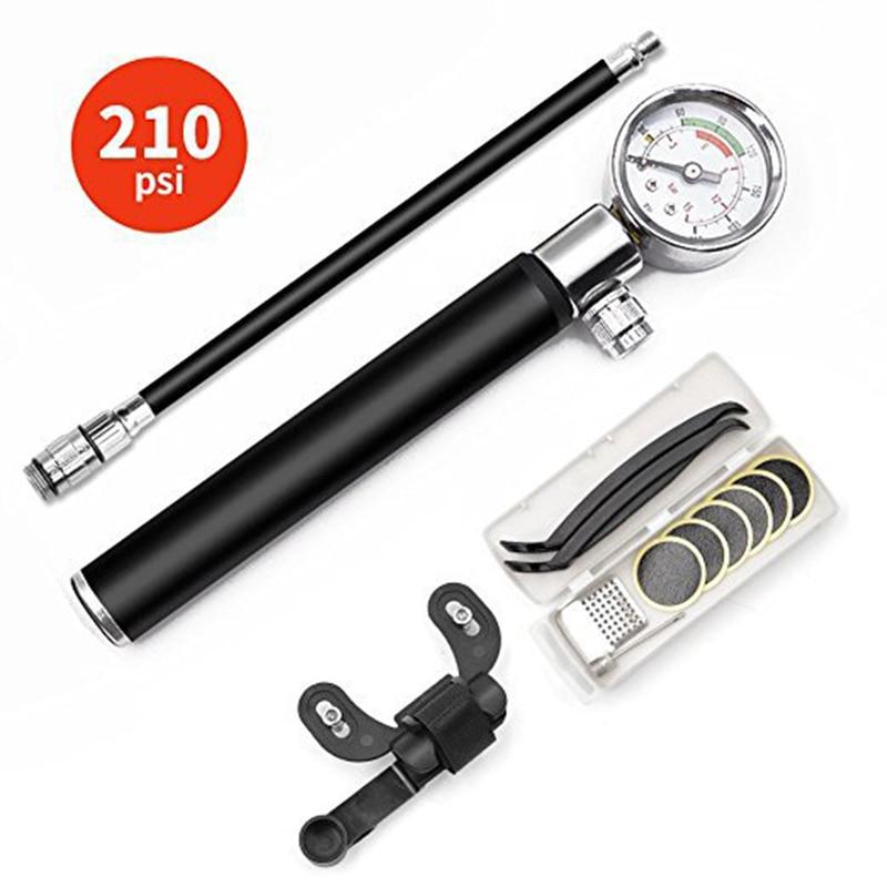 Pompe à haute pression Portable pompe à vélo VTT pompe à vélo tuyau jauge adaptateur de vélo alliage Portable gonfleur de pneu Air