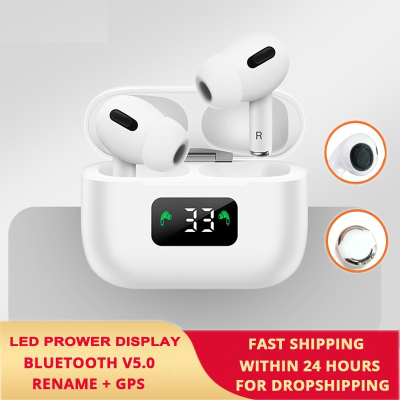 OLPAY Original New AirPro 3 <font><b>TWS</b></font> Wireless Headphones Bluetooth Earphone LED GPS Display Headset Touch Earbuds For All Smart Phone image