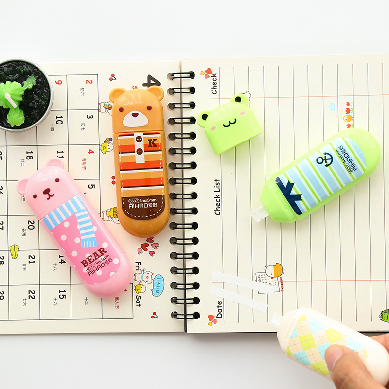 New Cute Animal Panda Cat Correction Tape Material Escolar Kawaii Stationery Office School Supplies Papelaria 3mX5mm