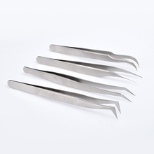 1pcs Eyelash Extension Tweezers Makeup Stainless Steel Non-magnetic Pincet False 3D accurate tweezers