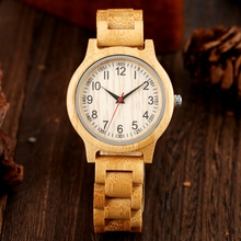 2020 Simple Women Wood Watch Natural All Bamboo Wood Clock Watch