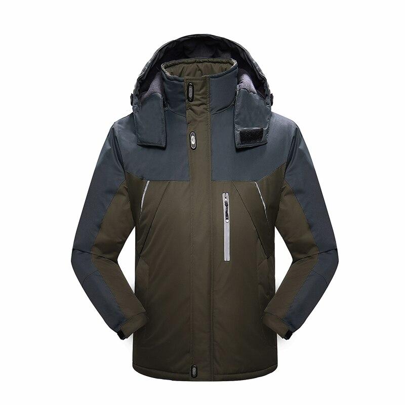 2019 hiver veste de Ski homme à capuche polaire chaud hommes Snowboard manteaux Sport Ski vêtements d'extérieur hommes vêtements coupe-vent en coton - 4