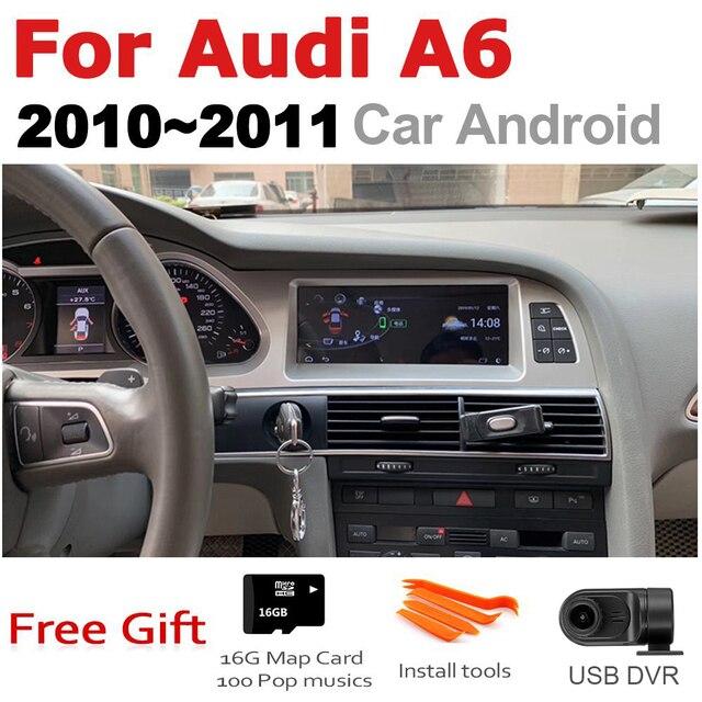 Auto Android Multimedia player Für Audi A6 4F 2010 ~ 2011 MMI 2G MMI 3G GPS Navi Karte stereo Bluetooth Ips bildschirm RAM 4G ROM 32G