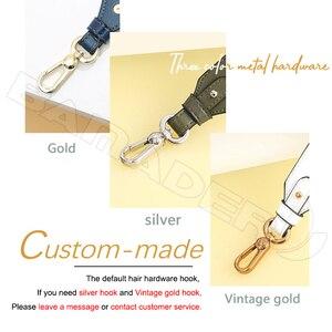 Image 5 - BAMADER Genuine Leather Bag Strap High Quality Rivet Wide Shoulder Strap Fashion Adjustable 90cm 110cm Women Bag Accessories New