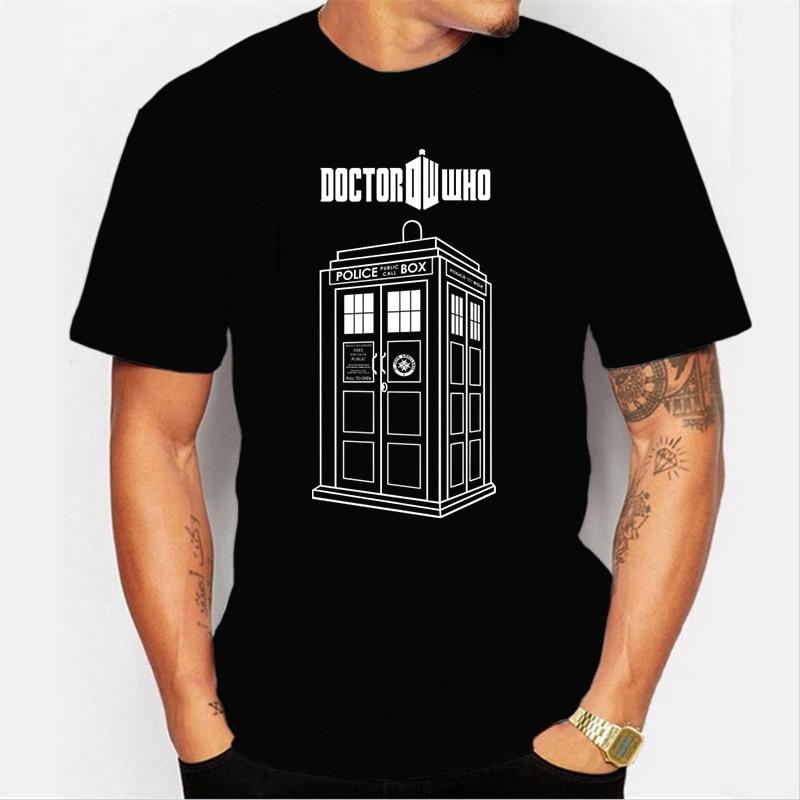 2020New Cotton T Shirt Doctor Who Police Box Tshirt Men T Shirt Summer Short Sleeve Shirt Oversized T Shirt Blusas Mujer De Moda