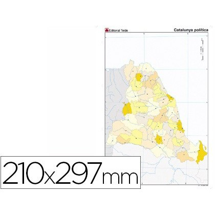MAP MUTE COLOR DIN A4 CATALAN POLITICO 100 Units