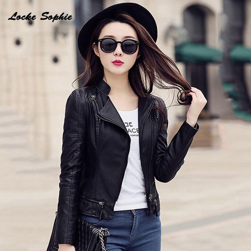 1pcs Women Plus size Sexy jacket coats 2019 Winter faux fur PU   Leather   Splicing Slim fit Jacket ladies Skinny locomotive coats