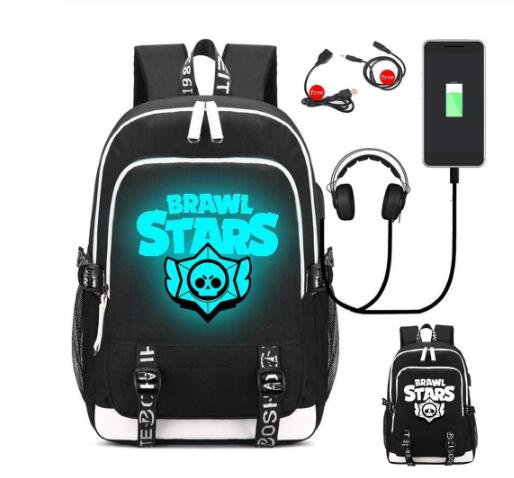 Game Canvas School Bag Printing Backpack USB Charging Mopchilas Laptop Bag Travel Bag Rucksack For Teenagers