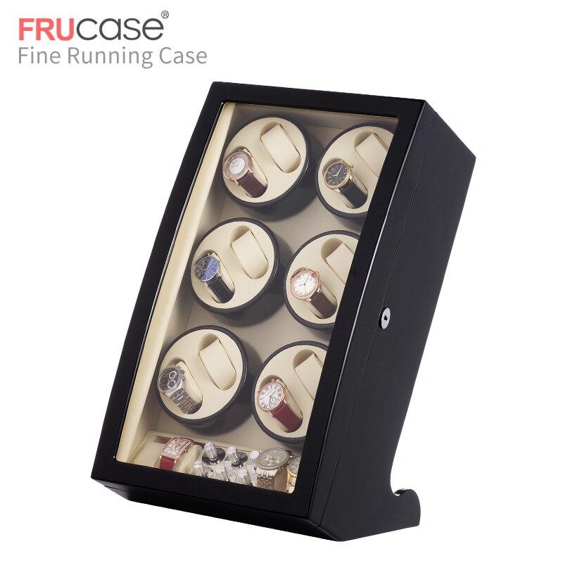 Image 2 - Automatyczna nakręcarka zegarków FRUCASE Black high finish zasilanie prądem zmiennym obsługa ultra cisza 12 + 4Pudełka do zegarków   -