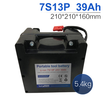 24V 39Ah 7S13P Li-ion battery Dedicated to electric wheelchairs Replaceable lead-acid battery 210*210*160mm