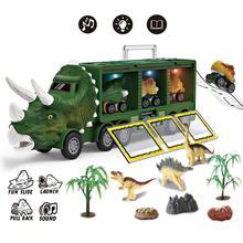 Dinosaur Car Model Toy Light Music Dinosaur Truck Dinosaur Excavator Engineering Vehicle Model Toy Children Birthday Gift