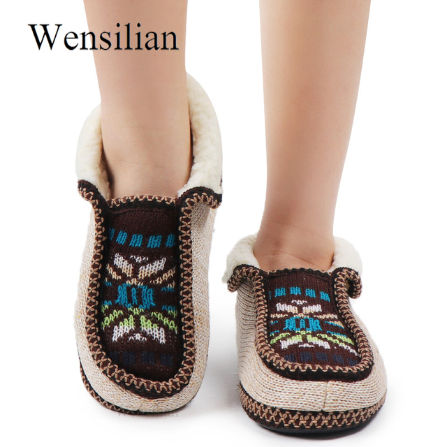 Home Slippers Winter House Women's Slippers Fur Slides Cotton Fabric  Female Plush Home Shoes For Women Ladies Chaussures Femme