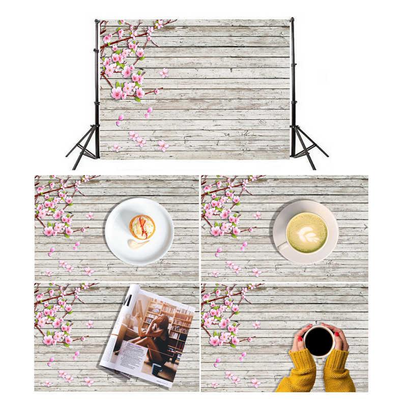 Rétro bois planches fleur Photographie Fond tissu toile de Fond Photo Fond décor Fond Photographie 40x60 cm/60x90 cm
