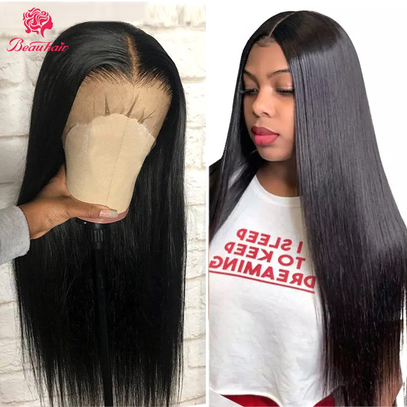 Brazilian13*4 Lace Front Human Hair Wigs Pre Plucked With Baby Hair 360 Lace Frontal Wigs Brazilian Human Hair Straight Wig Remy